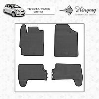 Комплект резиновых ковриков Stingray для автомобиля  TOYOTA YARIS 2006-     4шт.