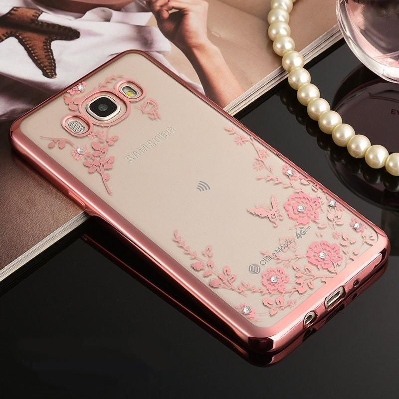 Чехол для Galaxy J7 2016 / Samsung J710 Flowers
