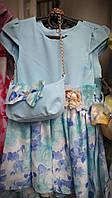 Нарядное платье с сумочкой на девочку 3-6 лет