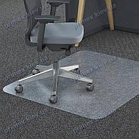 Ковер под кресло прозрачный 92х92см Германия для ковролина. Толщина 2,3мм