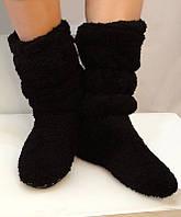 Тапочки сапожки   женские   черные для дома
