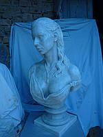 Скульптура бюст женщины из мрамора № 41