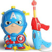 Водный пистолет с рюкзаком для воды Капитан Америка 123-8