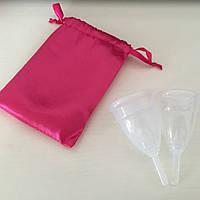 Менструальная чаша с мешочком комплект 2 шт. (S+L)