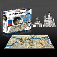 "Объемный пазл ""Петербург, Россия"", 4D Cityscape"