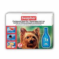 Beaphar Caniguard Spot On Капли от блох и клещей для собак малых пород и щенков, 1 пипетка