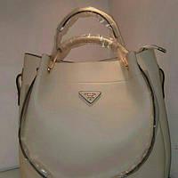 Белая сумочка Prada