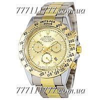 Часы мужские наручные Rolex Daytona Date Silver-Gold-Gold