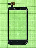 Сенсорный экран Lenovo A369i Копия АА Черный