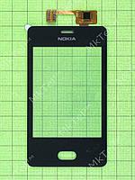 Сенсор Nokia Asha 501 Dual SIM Оригинал элем. Черный