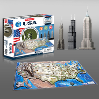 """Объемный пазл """"Соединенные Штаты Америки"""", 4D Cityscape"""