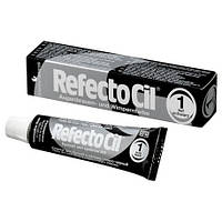 Краска для бровей и ресниц RefectoCil №1 Pure Black -  (глубокая черная), 15мл