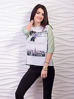 Неординарная стильная блузка с оригинальным принтом