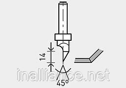 Фреза для выборки V-образного паза в листах гипсокартона HW с хвостовиком 8 мм HW S8 D12,5/45°, Festool 491000