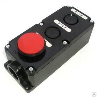 Пост кнопковий ПКЄ-222-3 гриб