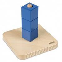 Деревянная игрушка Кубики на вертикальном штырьке МОНТЕССОРИ 0-62-01