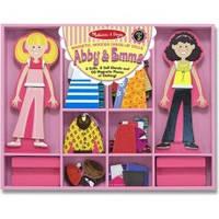 Деревянная игрушка Эбби и Эмма – магнитная одевалка Melissa-and-Doug MD4940