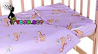 Постельный набор в детскую кроватку (3 предмета) Жирафы Фиолетовый, фото 1