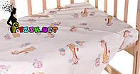 Постельный набор в детскую кроватку (3 предмета) Жирафы Бежевый, фото 1