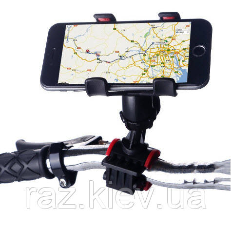 Тримач для телефону на велосипед, Тримач велосипедний з кріпленням на кермо HOLDER BIKE,