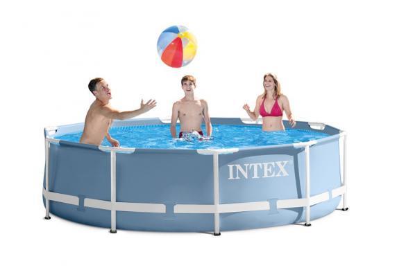 Круглый каркасный бассейн Metal Frame Pool Intex 28710 (Интекс 28210)