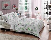 TAC двуспальный комплект постельного белья сатин Saten Kally yesil (green)