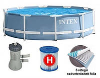 Круглый каркасный бассейн Metal Frame Pool Intex 28702 (Интекс 28202)