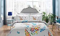 TAC двуспальный комплект постельного белья сатин Clarinda turkuaz