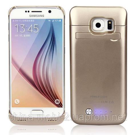 Power Bank Battery Case SAMSUNG S6 G920 gold 4200 mah  чехол-аккумулятор , фото 2