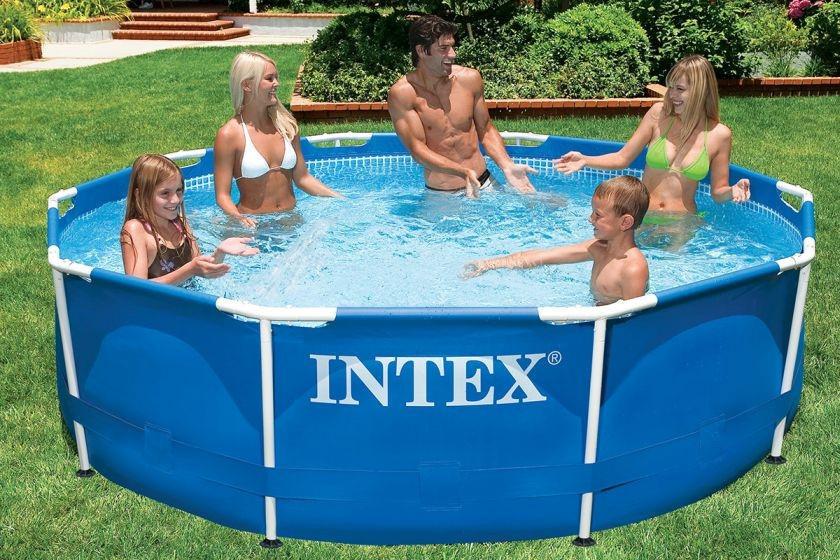 Круглый каркасный бассейн Metal Frame Pool Intex 28700 (Интекс 28200)
