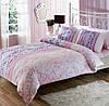 TAC двуспальный комплект постельного белья сатин Hazel lilac