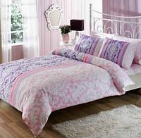 TAC двуспальный комплект постельного белья сатин Hazel lilac, фото 1