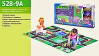 Розвиваючий ігровий килимок + 4 машинки для гри! 80х70см, фото 1