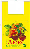 "Пакет майка ""Люкс Клубника"" (30x50) (уп.250шт)"