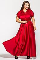 Красивое вечернее платье в пол  Алена бордо