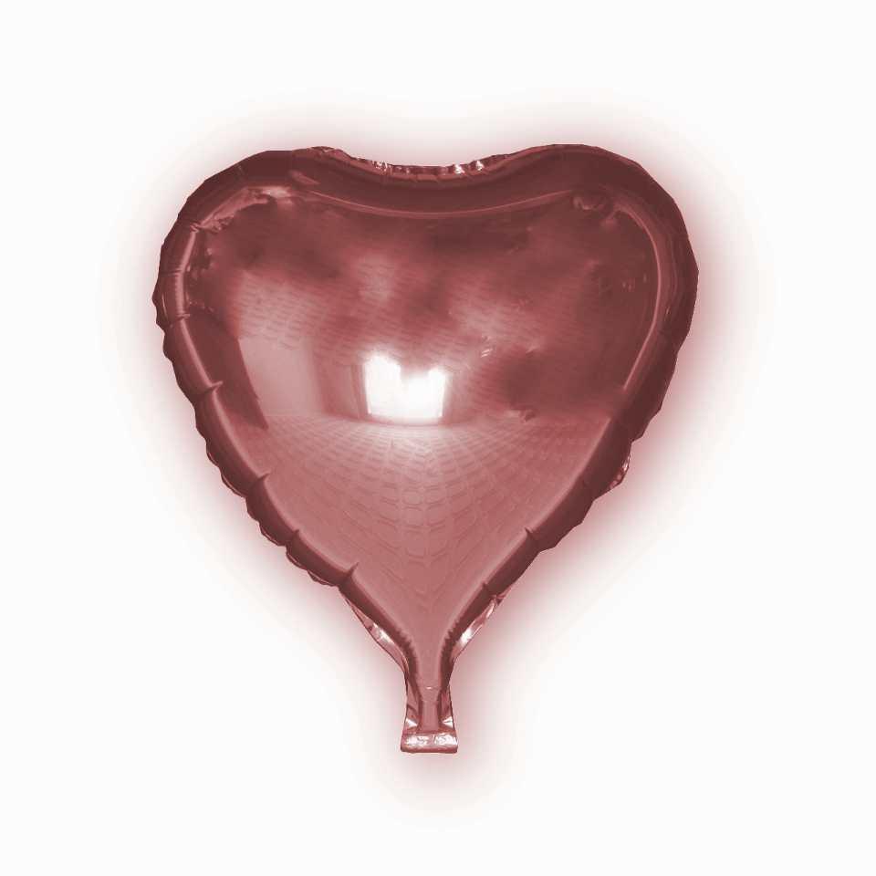 Фольгированный шар - Сердце розовое, 43х48см. Воздушные шарики оптом., фото 1
