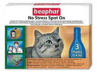 Beaphar No Stress Spot On Cat, Антистресс капли для котов, 3 пипетки