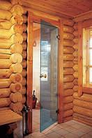 Двери для бани Andres, голубая прозрачная, 70х190, фото 1