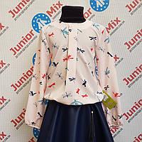 Блузка цветная на девочку в стрикозы  Zibi.