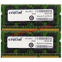 Оперативная память Crucial 16GB (Kit 2x8Gb) 1600MHz Crucial® for PC & Apple Mac (CT2K8G3S160BM)