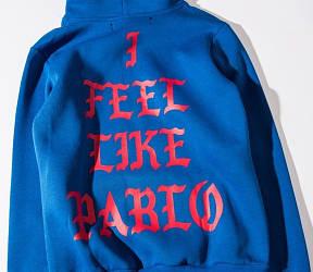 Толстовка с принтом Yeezy I Feel Like Pablo | мужская