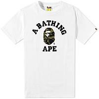 Футболка с принтом A BATHING APE BAPE