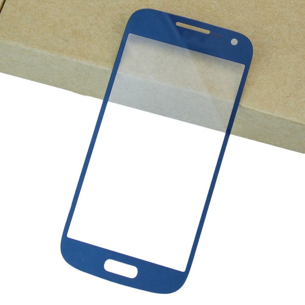 Стекло экрана Samsung i9190/ i9192/ i9295 Galaxy S4 mini синее