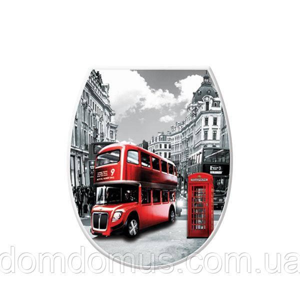 """Сидіння для унітазу з малюнком """"London"""" Elif Plastik, Туреччина 372-7"""