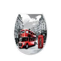 """Сиденье для унитаза с рисунком """"London""""  Elif Plastik, Турция 372-7"""