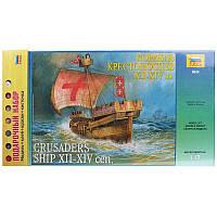 Подарочный набор с моделью корабля Крестоносцев + сертификат на 100 грн в подарок (код 200-108335)