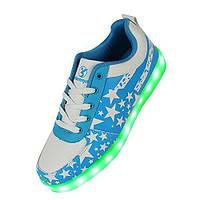 Светящиеся голубые LED кроссовки LEDKED USA Blue взрослые, фото 1