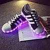 Светящиеся LED кроссовки LEDKED Superstar Black взрослые