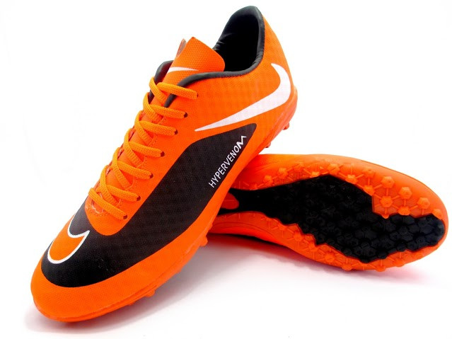 Футбольные сороконожки Nike HyperVenom Phelon TF Black/Orange/White