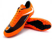 Футбольные сороконожки Nike HyperVenom Phelon TF Orange/Black/White, фото 1
